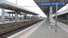 Lavori alla stazione di Lamezia Terme