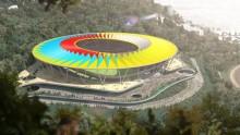 Lo stadio con il tetto a 'ruota di bicicletta'