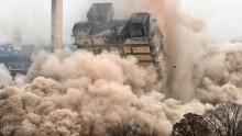 A Francoforte demolizione-record, usati quasi mille kg di esplosivo