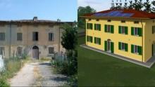 Un edificio a Mirabello ricostruito in Classe A con un nuovo sistema in laterizio