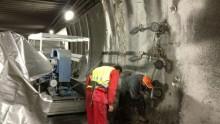 I lavori di messa in sicurezza nel traforo del Gran San Bernardo: il cantiere
