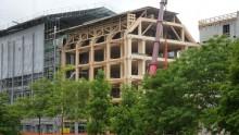 Edifici multipiano in legno, la sede Tamedia a Zurigo