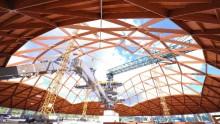 Edilizia in legno, il cantiere delle cupole per la centrale Enel