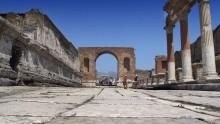 Lavori di recinzione a Pompei