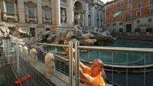 Un cantiere 'didattico' per restaurare la Fontana di Trevi