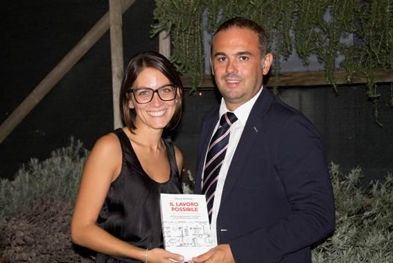 L'autrice Debora De Nuzzo e Ettore Bergamaschi, Direttore Marketing Operativo & Comunicazione Immergas