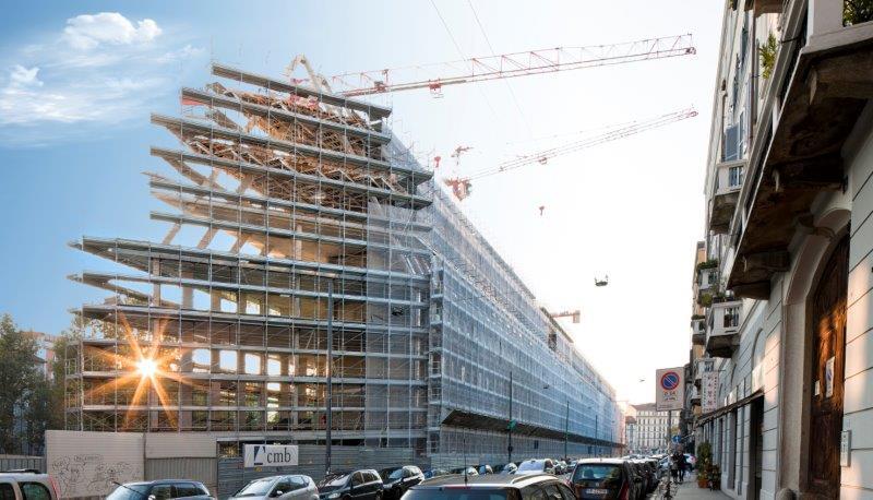 Il cantiere della Fondazione Feltrinelli in Porta Volta a Milano, foto di  Fabio di Carlo