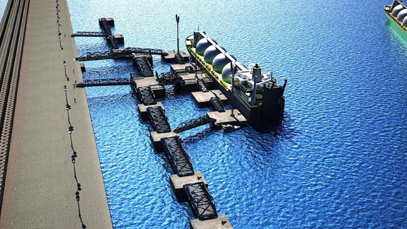 Un rendering dei lavori nel porto del Marocco