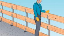 Caduta dall'alto: quali parapetti prefabbricati per la protezione dei lavori?