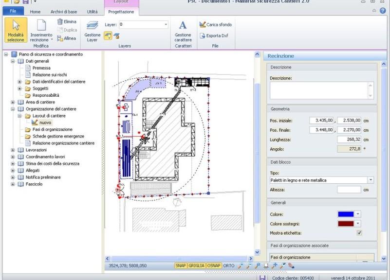 CAD integrato per la creazione dei layout di cantiere